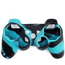 Cubierta de la caja de la piel de silicona para el camuflaje Gen¨¦rico / Controlador Playstation PS3