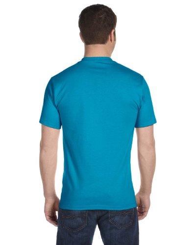 Hanes Lay-Flat Tag-Free Crewneck Beefy T-Shirt Teal