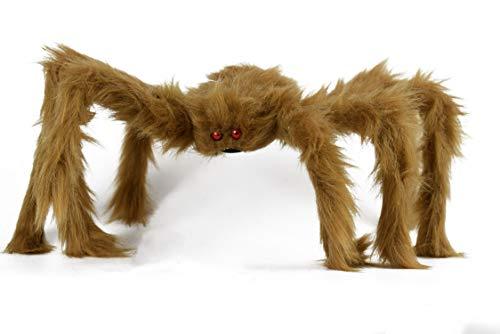 Set Halloween groß Hairy Spinnen. violett-grün-orange. Halloween-61cm Spinne-Spider Party Dekoration.