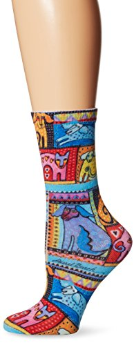 K-Bell Laurel Burch Socken Colorful Hunde–Rot, Acryl, mehrfarbig (Acryl Damen-socken)