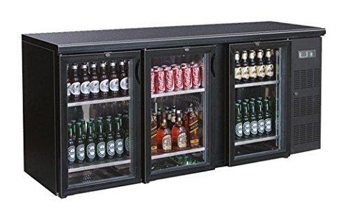 Flaschenkühltisch, 2002x535x860mm, schwarz, 537L