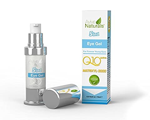 ★SPECIAL OFFER★ORGANIC 5 IN 1 Anti Ageing Eye Cream for Dark Circles & Puffiness - The Best Anti Wrinkle Eye Gel - Clinical Strength - Reduces Wrinkles, Bags, Saggy Skin & Puffy Eyes! HIGH QUALITY PREMIUM Ingredients - Q10 - Matrxyl 3000 - Great Eye Treatment For All Types Of Skin. 100% Satisfaction or Your Money Back