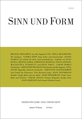 Sinn und Form 1/2018