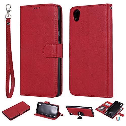 ZCXG Étui de protection en silicone pour Sony Xperia L1 2 en 1 Sony Xperia  L1 rouge