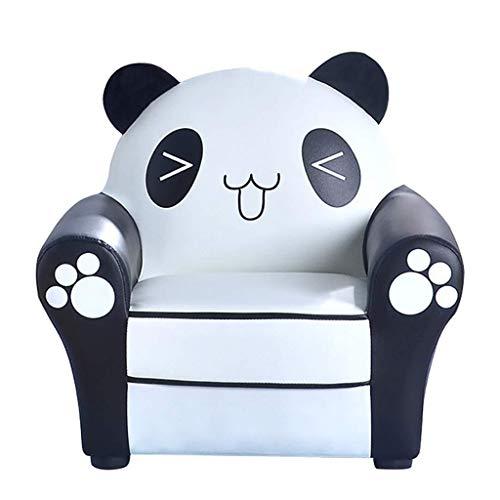 BDWY Kinder Sofa Leder Kunst Niedlich Panda-Baby-Lesestuhl Baby-Rückenlehne Stuhl,52x35x50cm