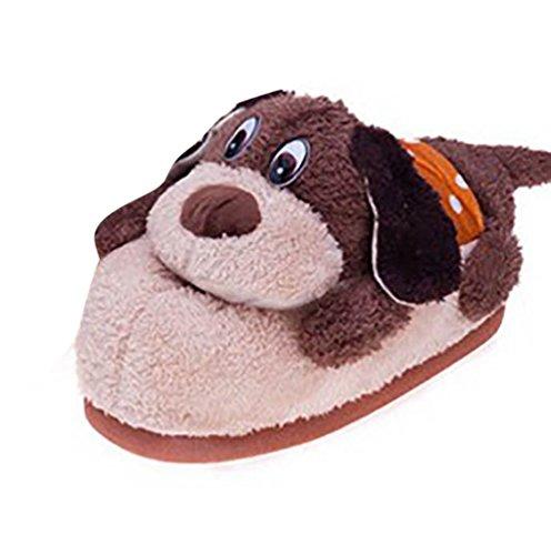YOUJIA Erwachsene Warme Winter Hausschuhe Plüsch Tier Pantoffeln Lustige Kuschelige Tierhausschuhe Indoor Schuhe, Hund