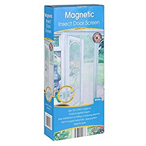 Country Club Magnetico Insect Door Screen–bianco
