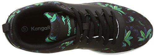 KangaROOS Kangacore 2106t, Baskets Basses Femme Multicolore - Mehrfarbig (smaragd flower print 846)
