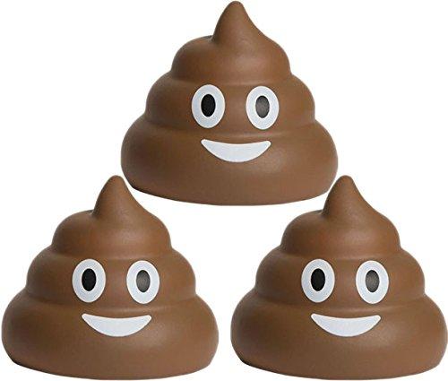 Bio Bidet, Deuce Poop Emoji-Stress Ball 3 braun - Stress-bälle Emojis