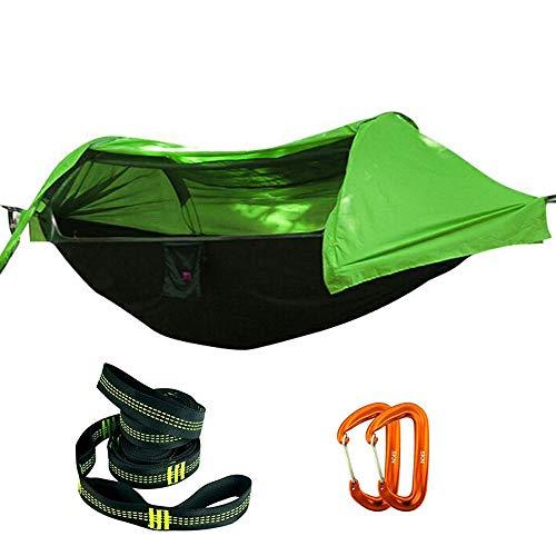 Doppel-Camping-Hängematte - Leichte tragbare Nylon-Hängematte, Fallschirm-Doppel-Hängematte für Backpacking, Camping, Reisen, Strand, Hof - Eno Hängematte Net