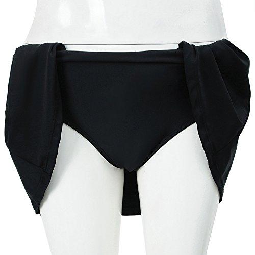 Damen Strandrock Schwimm Rock Badeshorts Bikini Rock High Waist Swimwear Farbe-3