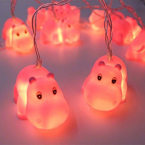 Ocio Lazy 1,5m 10luces funciona con pilas Cute Animal Forma LED String luces para interior/al aire libre Halloween Navidad de Acción de Gracias Decoración de Hogar Fiesta Niños Niños Dormitorio