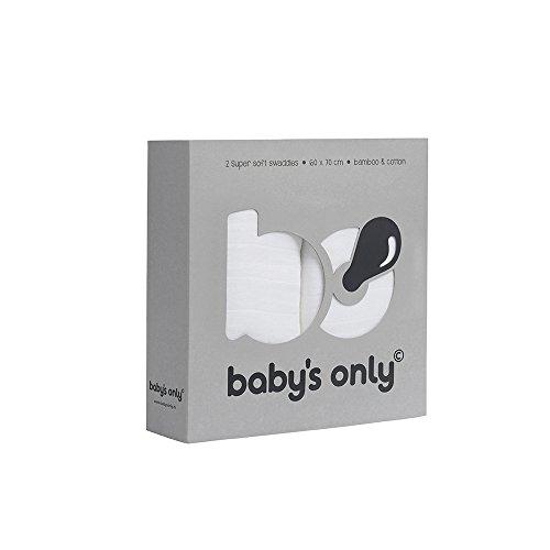 Baby's Only 921019 Swaddle Pucktuch 2er Set weiß 60x70 cm