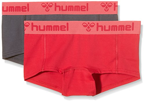 Hummel Damen Shorts Hers 2-Pack Mini, vitual pink/Dark Slate, L, 24-070-9277
