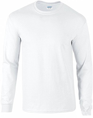 Gildan Ultra Cotton Pullover (Ultra Cotton Herren Basic Elegantes Shirt Tops Langarm T-Shirts Herbst Winter Shirt Kleidung Lang Sweatshirt Fashion Tee Langarmshirt Langaermeliges T-Shirt aus Baumwolle mit Rundhalsausschnitt Fit)