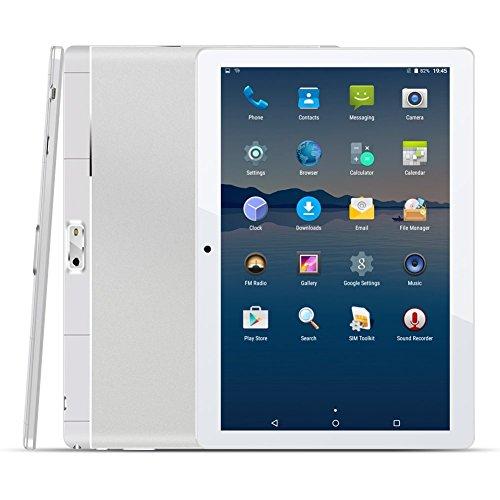 10.1 Zoll 4G Tablet PC,1G RAM +16G ROM,Batteriekapazität 4500mAh,Dual-SIM,IPS HD Display 1280x800,Quad Core CPU,Android 5.1,WIFI WLAN Bluetooth,4 Farben zur Wahl Silber von QIMAOO