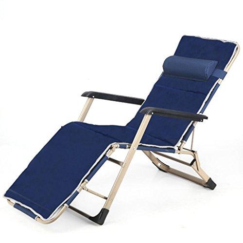 XITER Stuhl Klappstuhl Siesta Bett Pflegebett Klappbett Liege Bett Strandkorb Indoor Lounge Chair Blau