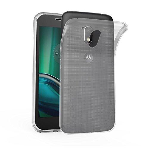 Cadorabo Hülle für Motorola Moto G4 Play - Hülle in VOLL TRANSPARENT - Handyhülle aus TPU Silikon im Ultra Slim 'AIR' Design - Silikonhülle Schutzhülle Soft Back Cover Case Bumper