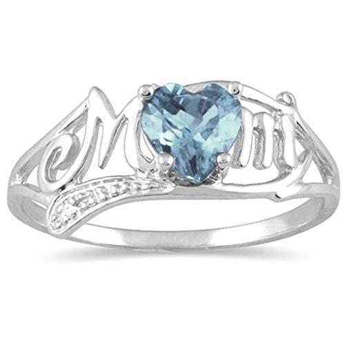 Ring LCLrute Mode Geburtstagsgeschenk für Muttertag Liebes-Mamma-Diamant-Ring-Schmucks-bestes Geschenk für Mutter-Partei-Hochzeits-Band-Ringe (10) - Diamant-hochzeit Gold Ring-sätze