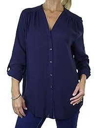 ICE (4062-2) Día de la blusa en color Azul marino elegante de