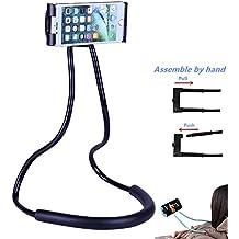 MIMIEYES Soporte para Teléfono Lazy Colgar Cuello Flexible Soporte, DIY Libre Giratorio con Multifunción para Montaje en Escritorio Cama Coche (Negro)