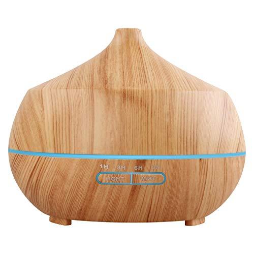 Tenswall 400ML Humidificador Aromaterapia Ultrasónico.Difusor de aroma/aceite esencial de Vapor frío, anillo de luces LED de 7 colores,para Hogar, Oficina,Dormitorio,sala,sala de estar etc.