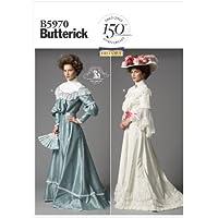 Butterick Patrones B 5970 - Patrón de blusa y falda, el tamaño de Reino Unido 8-16 (US 40 a 48), color: blanco