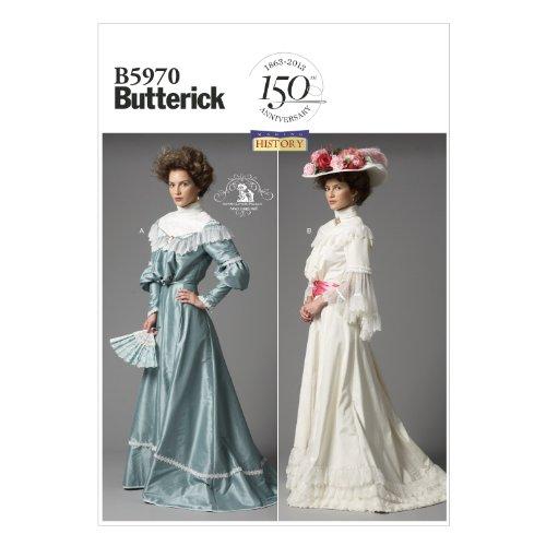 Butterick Patterns B5970 - Cartamodello per camicetta e gonna, taglie UK 8-16 (IT 40-48), colore: bianco