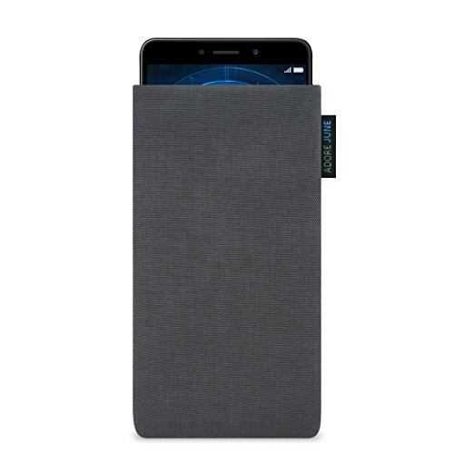 Huawei Honor 6X Hülle, Adore June Tasche [Serie Classic] original Cordura in dunkelgrau. Handytasche aus widerstandsfähigem Textil-Stoff [Display-Reinigungseffekt] Honor 6X case sleeve
