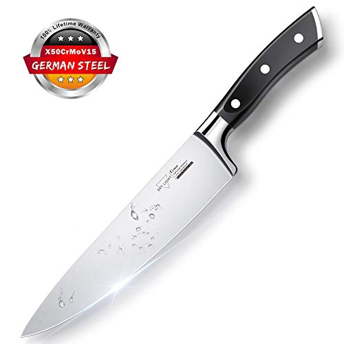 SKY LIGHT Küchenmesser Kochmesser Messer Profi Universalmesser Chefmesser 20 cm Allzweckmesser Scharfe Klinge aus Deutschem Edelstahl für Küche Köche