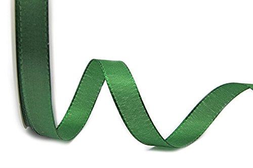 TAFTBAND DUNKELGRÜN 3 m x 1,5 cm (0,50€/m) Dekoband Geschenkband Stoffband 15 mm Tischdeko Hochzeit Ostern Schleifenband Visco TAFT Kartengestaltung Basteln