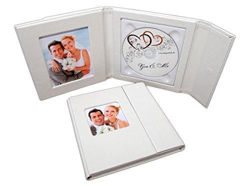 Hochzeit-dvd-hülle (Elegant 1er CD/DVD/BlueRay Hülle. DVD Case für 1 Disc mit 2 Bildfenster. Farbe Weiss)