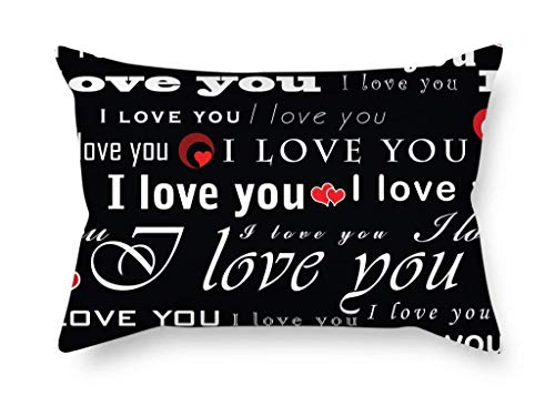 Haloxa pillows covers Artistdecor The Love Christmas Pillowcase of Decoration Gift for Chair Indoor Dance Room Couch Girls Valentine (Both Sides)