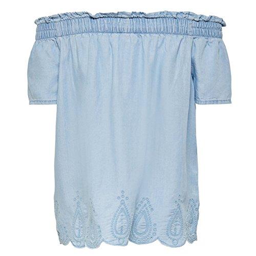 Only -  T-shirt - Maniche corte  - Donna Denim