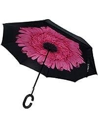 2ffc1d6c52ff5 Clubb Clubbrella for Car - The Inverted / Reversible Umbrella (Pink Daisy)