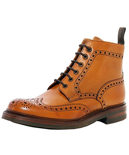 Loake Hommes Tan Bedale Cuir Brogue Bottes