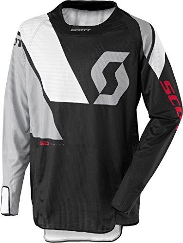 Scott 450 Podium MX Motocross Jersey/DH Fahrrad Trikot schwarz/grau/weiß 2017: Größe: M (48/50) -