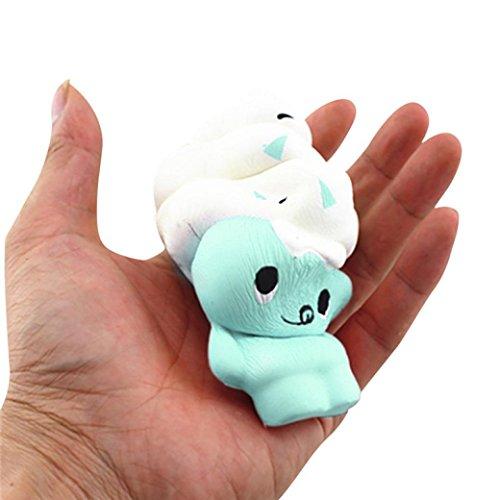 ubabamama Squishy Eis Bär Puppe Squeeze Telefon Träger langsam Rising Dutt Charms lindern anxiet Geschenk Dekompression Toys (Damen Bar Steigende)