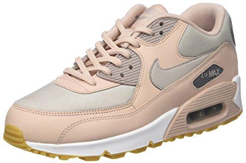 Nike air max 90, scarpe da ginnastica donna, beige/moon particle/g 206, 37.5 eu