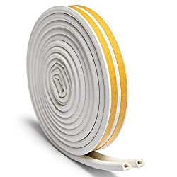 Rubber Seal Weather Strip Foam Tape - VIDEN D-Shaped EPDM Foam Seal, Door Window Anti-Collision Self-Adhesive Rubber, High Strength Tape System, Soundproofing Draft Stopper