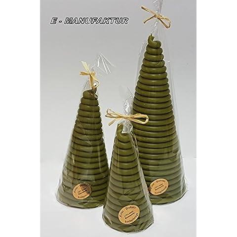 A Cono candele a forma di bastoncini di cera, filo in diverse misure e colori come luce vittima o per occasioni speciali. (8mm/180mm, verde)