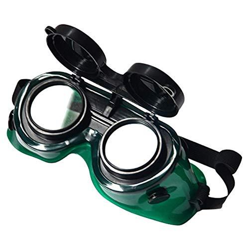 Szyzl88 Schweißen Brille Verstellbar Brillen Löten Weich Rahmen Schneidend Löten Aufklappbare Zwei Schichten Langlebig -augen Shutz- Industrie- Sicherheit Linsen