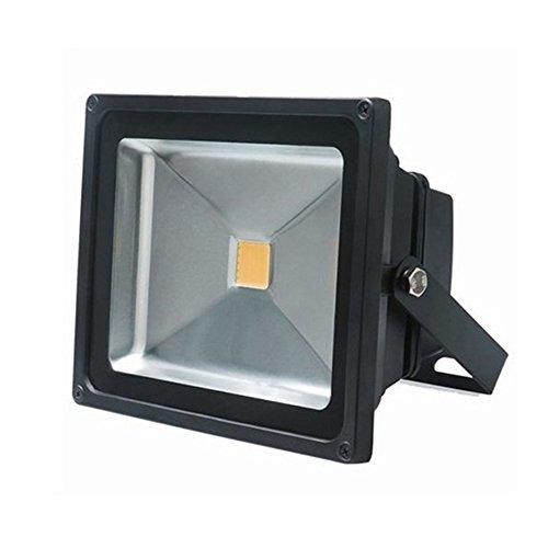 SAILUN 1 x 20W LED Fluter Strahler Licht Scheinwerfer Außenstrahler Wandstrahler Schwarz Aluminium IP65 Wasserdicht AC 85 - 265V WarmWeiß (1 x 20W Warmweiß) -