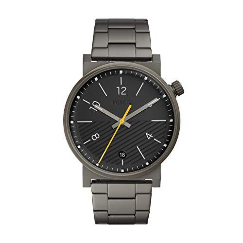 Fossil Herren Analog Quarz Uhr mit Edelstahl Armband FS5508
