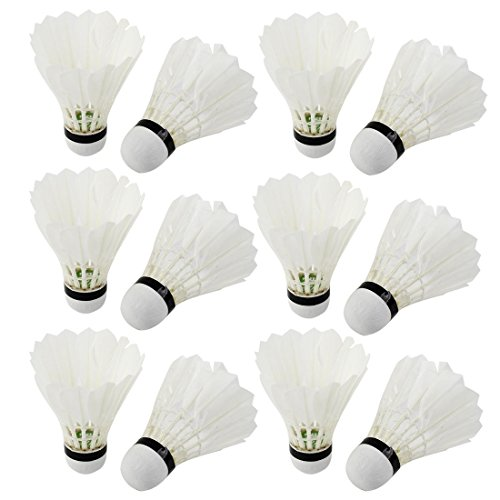 Outdoor de 12 volants de Badminton en plume d'oie Lot de 12