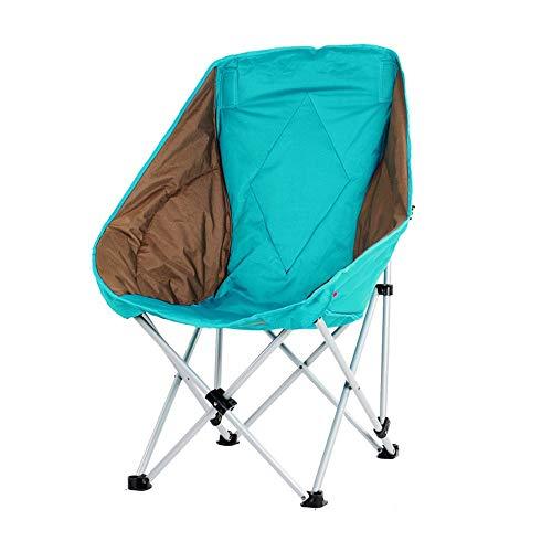 Campingstuhl Große erwachsene mond stuhl faul stuhl liege rutschfeste outdoor camping angeln klappstuhl sofa stuhl innen warm rückenlehne mittagspause stuhl tragbar Klappstuhl ( Farbe : Lake blue )