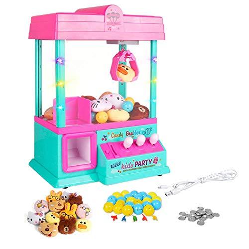 Urben Life Candy Grabber Mini Spielzeug Claw Game Machine Spielzeug Candy Puppe Dispenser Kran Spielzeug mit LED-Leuchten und einstellbarer Sound-Schalter - Tabletop-automaten