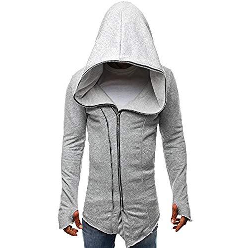 Amphia - Herren Vintage Gothic Mantel Kostüme Punk Hooded Pullover,Herren Herbst Winter Casual Reißverschluss Langarm Pullover Sweatshirt Hoodie Coat Top