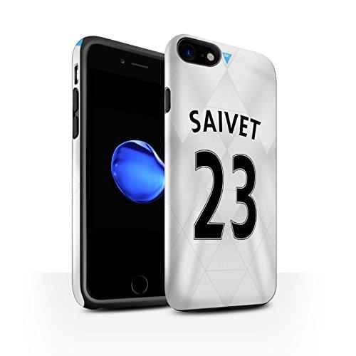 Officiel Newcastle United FC Coque / Brillant Robuste Antichoc Etui pour Apple iPhone 7 / Anita Design / NUFC Maillot Extérieur 15/16 Collection Saivet