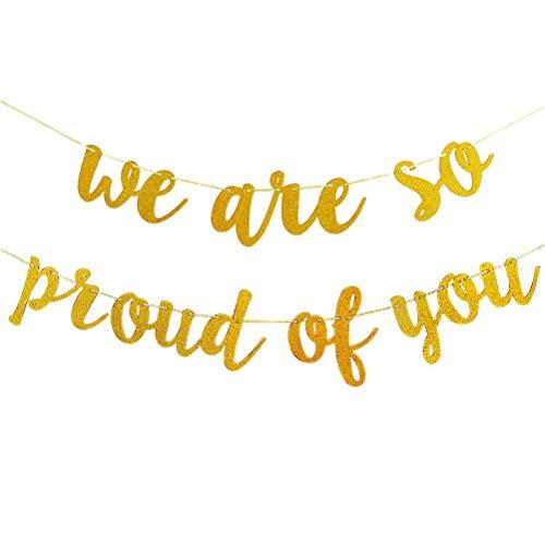 Xeples Abschluss Banner Glitterpuderpapier Glückwunsch abschluss we Are so Proud of You (Halloween Für Gruppen Themen Große)
